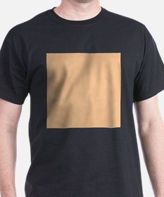 Apricot Solid Color T-Shirt