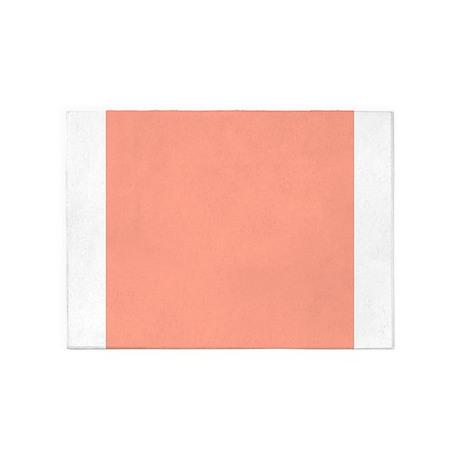 Coral Orange Solid Color 5u0027x7u0027Area Rug