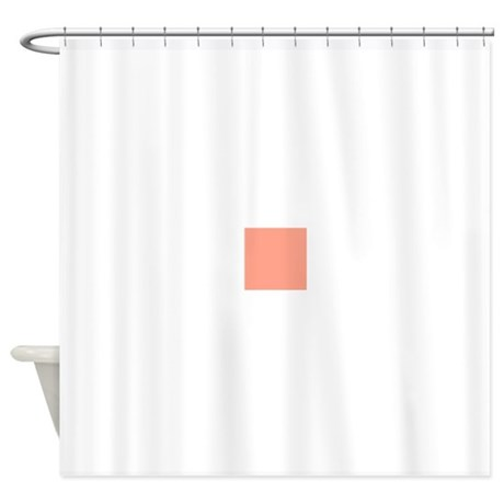 coral orange solid color shower curtain by admin cp49789583