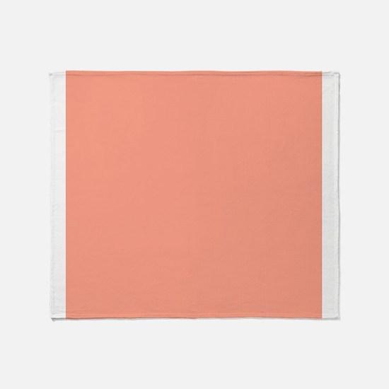 Coral Orange Solid Color Throw Blanket
