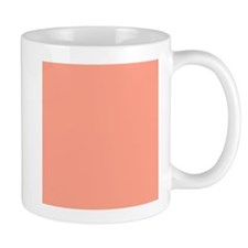 Coral Orange Solid Color Mugs