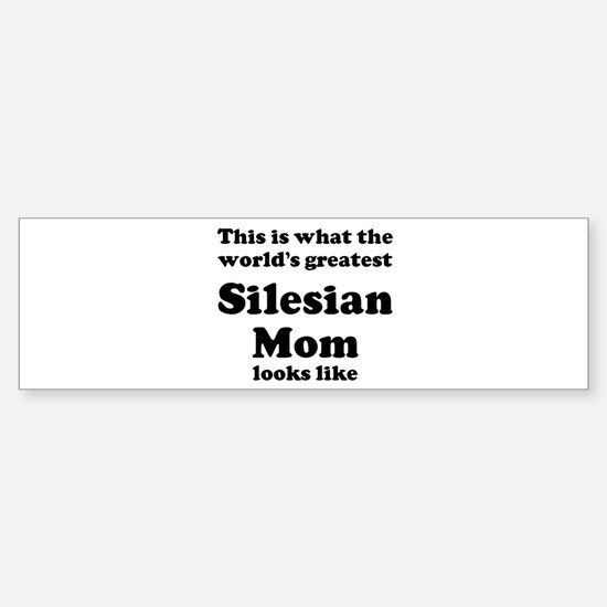 Silesian mom Bumper Car Car Sticker
