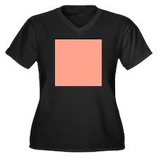 Coral Orange Solid Color Plus Size T-Shirt