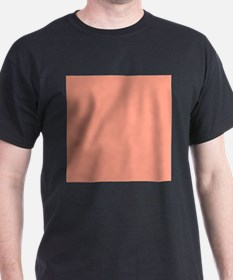 Coral Orange Solid Color T-Shirt