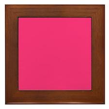 Hot Pink Solid Color Framed Tile