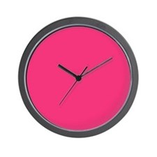 Hot Pink Solid Color Wall Clock