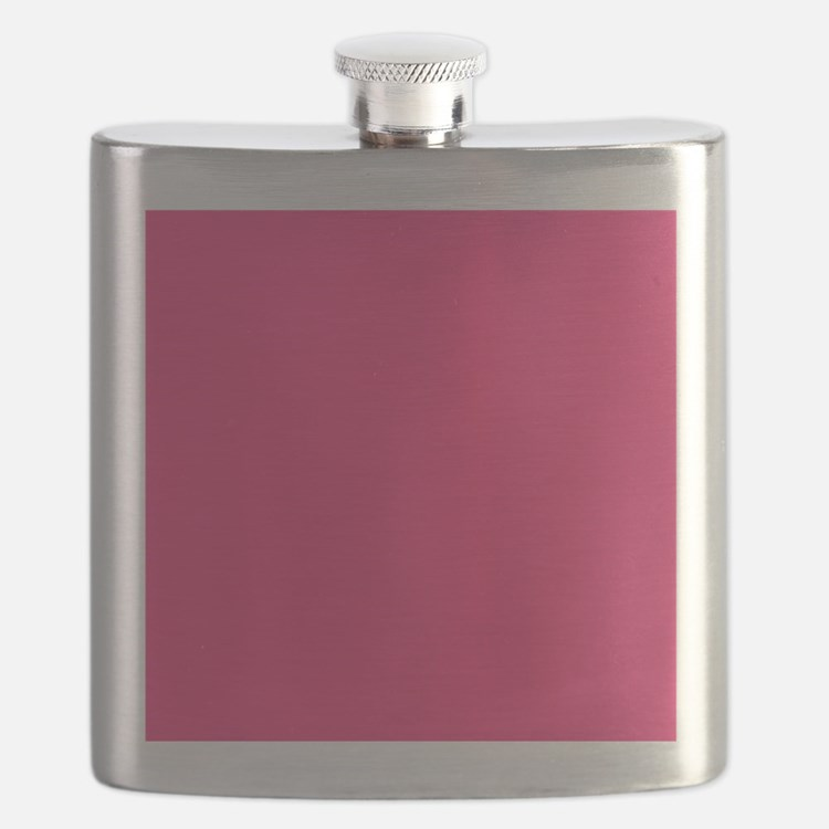 Hot Pink Solid Color Flask