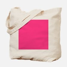 Hot Pink Solid Color Tote Bag