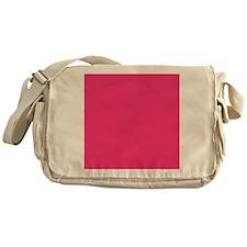 Hot Pink Solid Color Messenger Bag