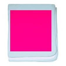 Hot Pink Solid Color baby blanket