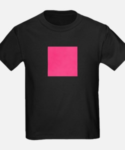 Hot Pink Solid Color T-Shirt