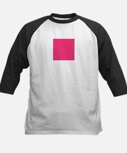 Hot Pink Solid Color Baseball Jersey