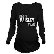 Its A Paisley Thing Long Sleeve Maternity T-Shirt