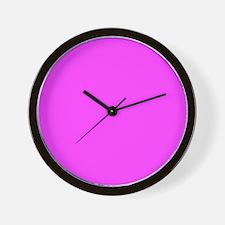 Magenta Pink Solid Color Wall Clock