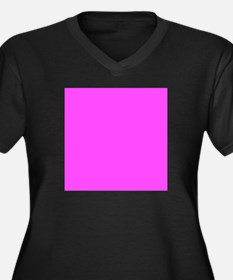 Magenta Pink Solid Color Plus Size T-Shirt