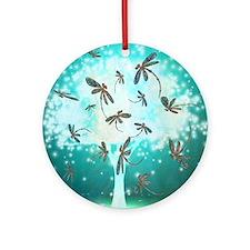 Dragonfly Glow Tree Ornament (Round)