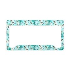 Dragonfly Glow Tree License Plate Holder