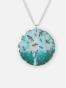 Dragonfly Glow Tree Necklace