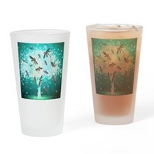 Dragonfly Glow Tree Drinking Glass