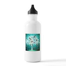 Dragonfly Glow Tree Sports Water Bottle