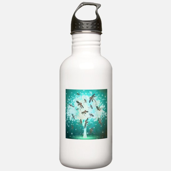 Dragonfly Glow Tree Sports Water Bottle