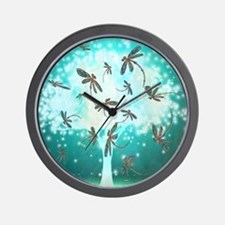 Dragonfly Glow Tree Wall Clock