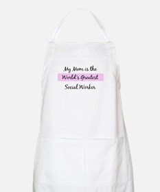 Worlds Greatest Social Worker BBQ Apron