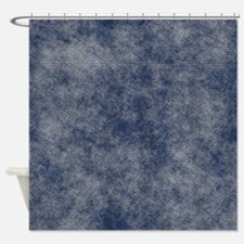 Faded Denim Shower Curtain
