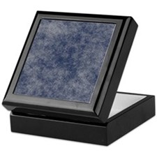 Faded Denim Keepsake Box