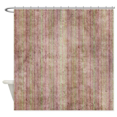 Green And Purple Grunge Stripes Shower Curtain By Cuteprints