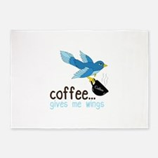Coffee Gives Me Wings 5'x7'Area Rug