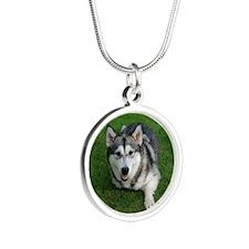 Devon Malamute Silver Round Necklace