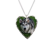 Devon Malamute Necklace Heart Charm