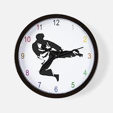 Martial Arts Kicker Wall Clock