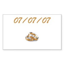 July 7th Wedding Rectangle Decal