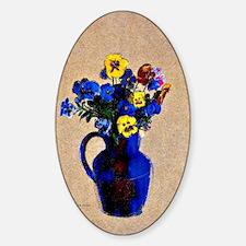 Vase of Flowers-Pansies Decal