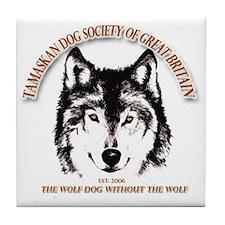 Tamaskan Dog Society of Great Britain Tile Coaster
