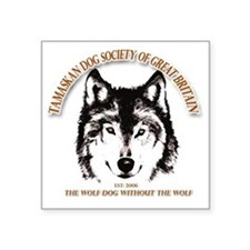 "Tamaskan Dog Society of Gre Square Sticker 3"" x 3"""