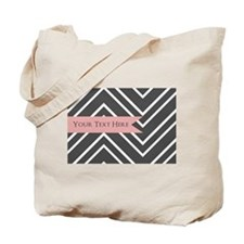Custom Monogram Chevron Tote Bag