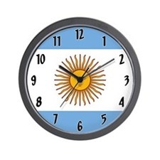 Flag of Argentina Wall Clock