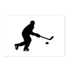 Hockey player puck Postcards (Package of 8)
