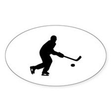 Hockey player puck Decal