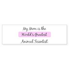 Worlds Greatest Animal Scient Bumper Bumper Sticker