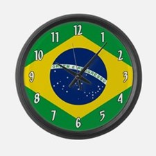 Flag of Brazil Large Wall Clock