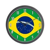 Brazil flag Wall Clocks