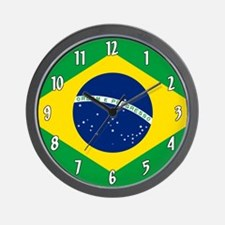 Flag of Brazil Wall Clock