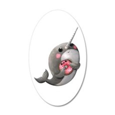 Cute Narwhal with Donut Pegatinas de pared