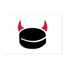 Hockey devil puck Postcards (Package of 8)