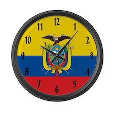 Flag of Ecuador Large Wall Clock
