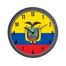 Flag of Ecuador Wall Clock